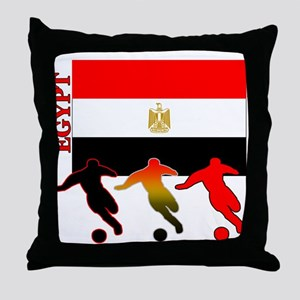 Egypt Soccer Throw Pillow