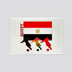 Egypt Soccer Rectangle Magnet