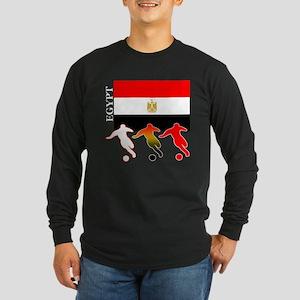 Egypt Soccer Long Sleeve Dark T-Shirt