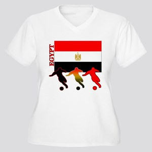 Egypt Soccer Women's Plus Size V-Neck T-Shirt