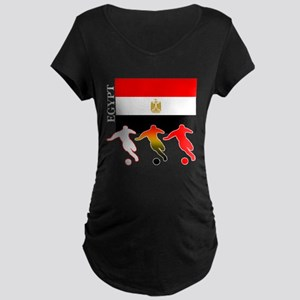 Egypt Soccer Maternity Dark T-Shirt