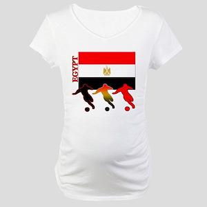 Egypt Soccer Maternity T-Shirt