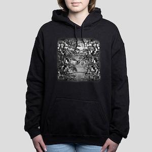 Dragonfly Bubbles Black Women's Hooded Sweatshirt