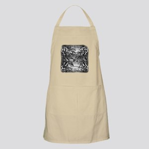 Dragonfly Bubbles Black n White Apron