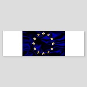 EU Silk Flag Bumper Sticker