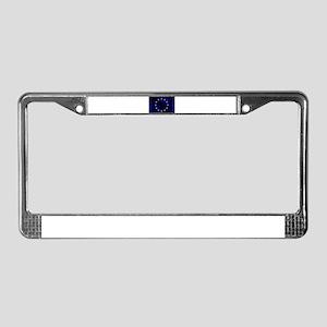 EU Silk Flag License Plate Frame
