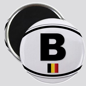 Belgium B Plate Magnets