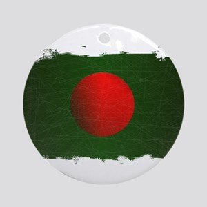 Bangladesh Grunge Flag Round Ornament