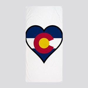 Love Colorado Beach Towel