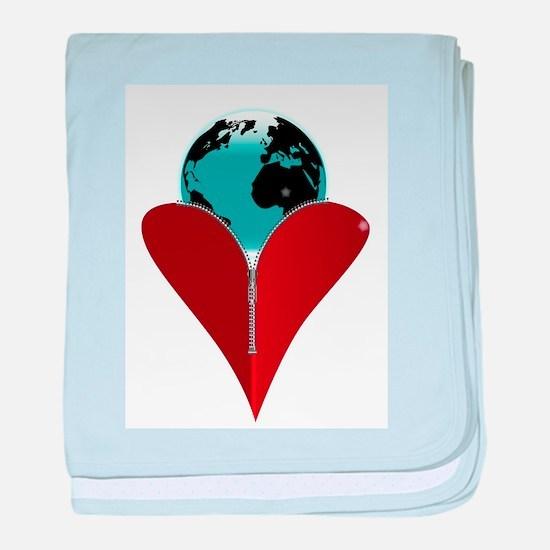 Love Earth baby blanket