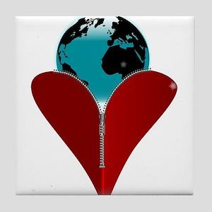 Love Earth Tile Coaster