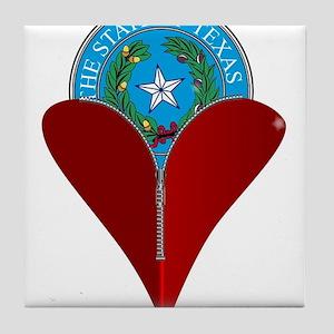 Love Texas Tile Coaster