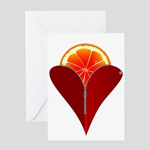 Love Fruit Greeting Cards