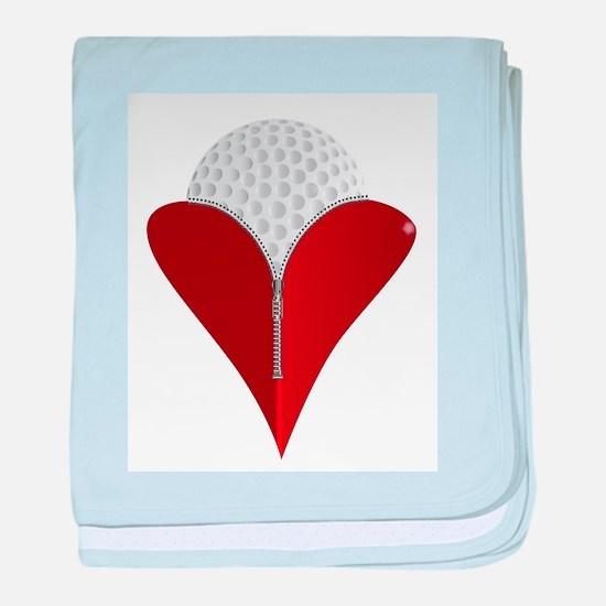 Love Golf baby blanket