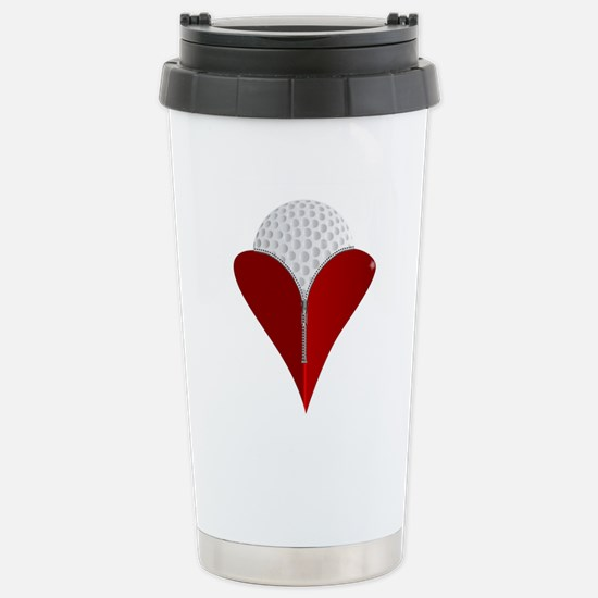 Love Golf Stainless Steel Travel Mug