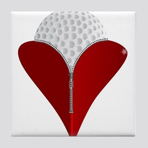 Love Golf Tile Coaster