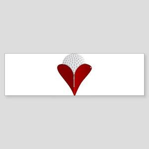 Love Golf Bumper Sticker