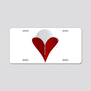 Love Golf Aluminum License Plate
