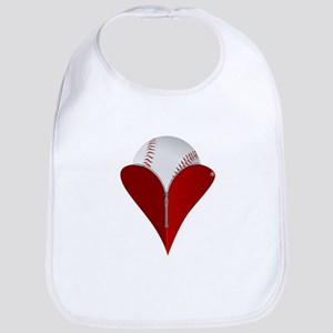 Love Baseball Bib