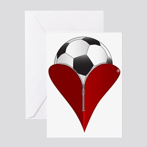 Love Soccer Greeting Cards