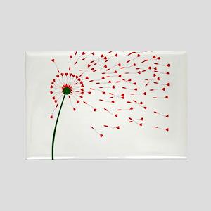 Dandelion Heart Seeds Magnets