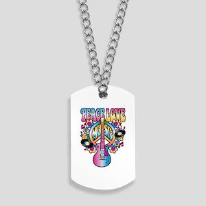 Peace-Love-Music Dog Tags