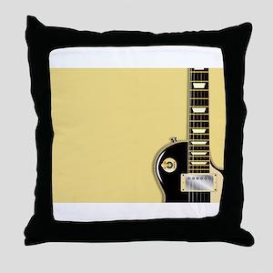 Guitar Copy Space Throw Pillow