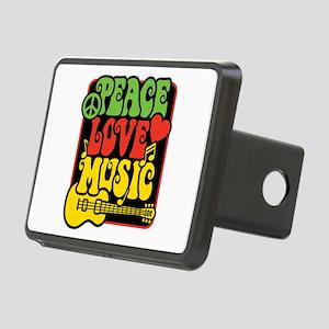 Rasta Peace Love Music Rectangular Hitch Cover