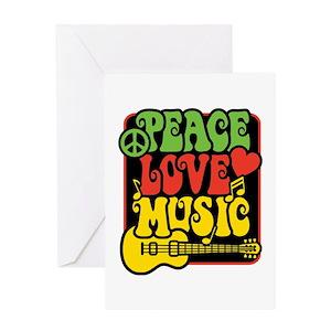 Reggae rasta greeting cards cafepress m4hsunfo