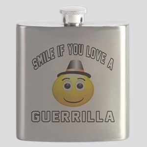 Smile If You Love Guerrilla Flask