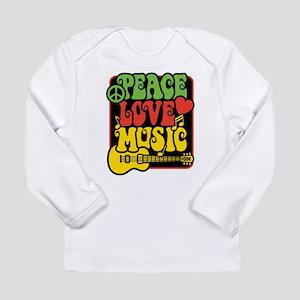 Rasta Peace Love Music Long Sleeve T-Shirt