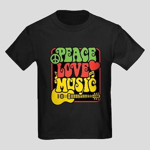 Rasta Peace Love Music T-Shirt