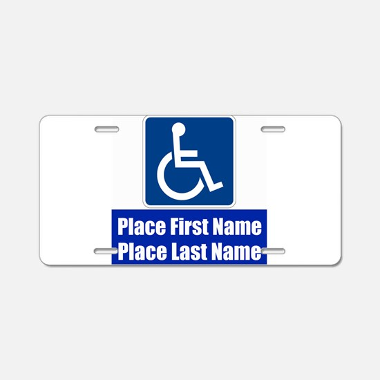 Handicapped Disabled Aluminum License Plate