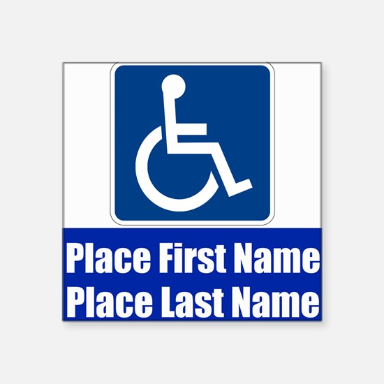 Handicapped Disabled Sticker