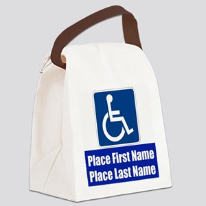 Handicapped Disabled Canvas Lunch Bag