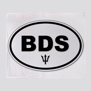 Barbados BDS Plate Throw Blanket