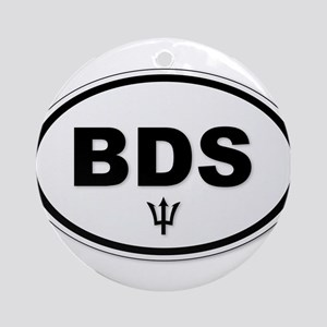 Barbados BDS Plate Round Ornament