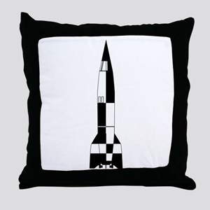 V2 German World War 2 Rocket Throw Pillow