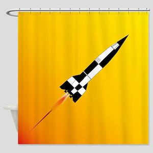 V2 Rocket Launch Shower Curtain