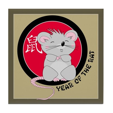Year of the Rat Tile Coaster