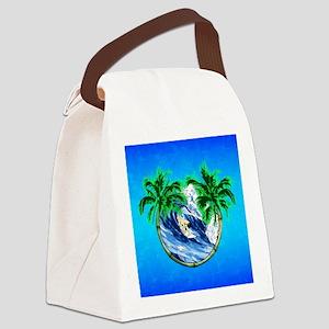 Tropical Surfer Canvas Lunch Bag