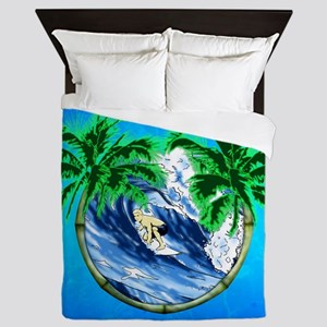 Tropical Surfer Queen Duvet