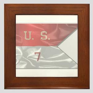 7th Cavalry Silk Flag Framed Tile