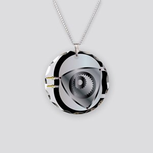 Rotary Engine Necklace Circle Charm