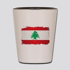 Lebanon Grunge Flag Shot Glass