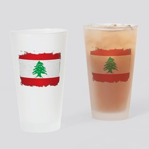 Lebanon Grunge Flag Drinking Glass
