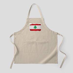 Lebanon Grunge Flag Apron