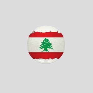 Lebanon Grunge Flag Mini Button