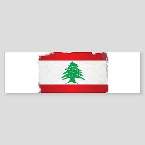 Lebanon Grunge Flag Bumper Sticker