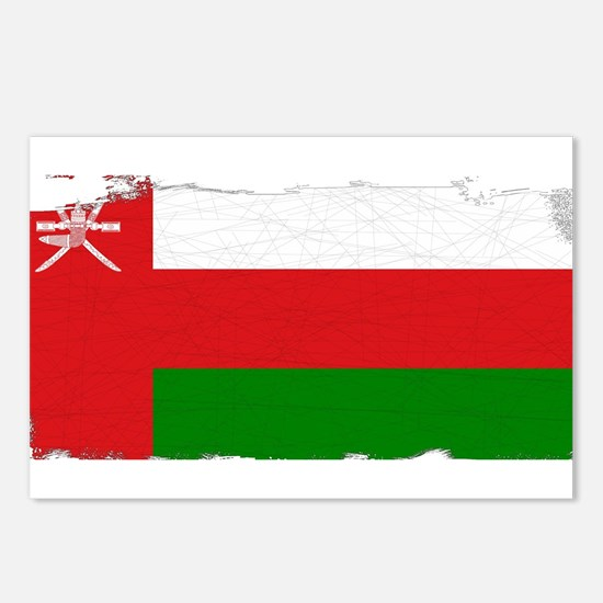 Flag of Oman Grunge Postcards (Package of 8)